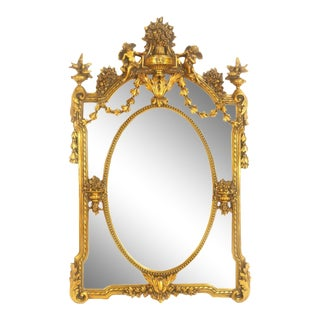 French Wall Mirror in Louis XVI Style For Sale