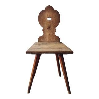 Primitive Folk Art 19th Century Scandinavian Accent Chair For Sale