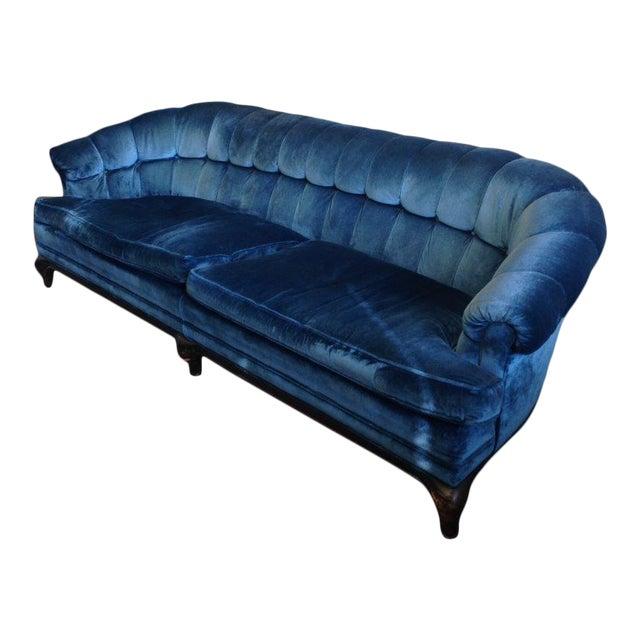 Mid-Century Maurice Bailey Monteverdi-Young Blue Velvet Original Sofa For Sale