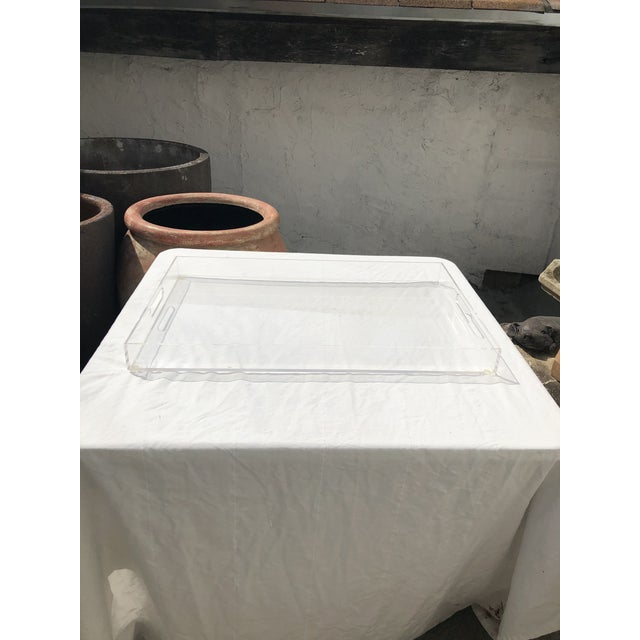 Large Lucite Tray With Cutout Handles For Sale - Image 12 of 12