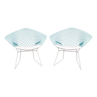 """Mid-Century Modern """"Diamond"""" Chairs by H. Bertoia for Knoll - A Pair"""