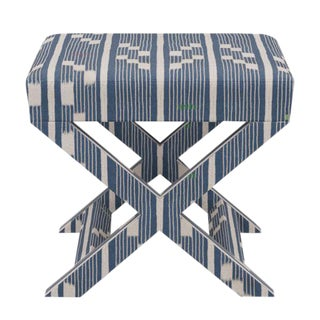 X Bench in Linea Ikat For Sale
