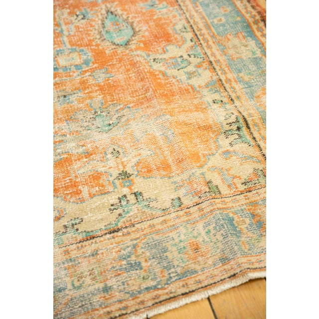 """Old New House Vintage Distressed Oushak Carpet - 6'4"""" X 9'3"""" For Sale - Image 4 of 13"""