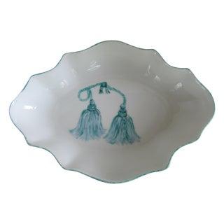 Limoges Porcelain Dish with Tassel Details For Sale