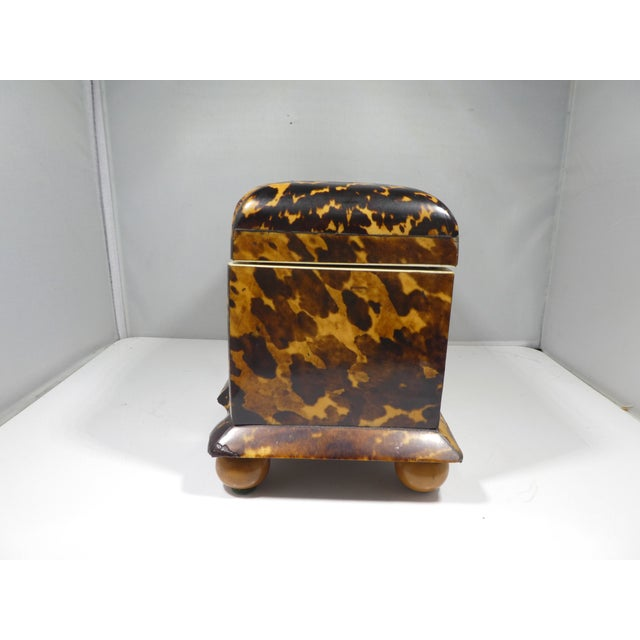 19th Century Tortoise Shell Tea Caddy For Sale - Image 10 of 13
