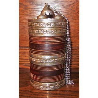 19c Anglo Indian Hardwood Caddy With Solid Silver Mounts Preview