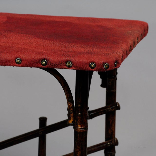 An Asian Inspired Set Of Bamboo Furniture Ca. 1930ties For Sale - Image 11 of 13