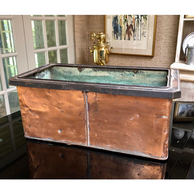 Fabulous French Find. A vintage early 1900s copper planter. Naturally aged patina. The perfect way to show off your plants...
