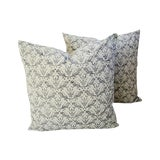 Image of Custom Tailored Brunschwig & Fils Royal Imperial Feather/Down Pillows - A Pair For Sale