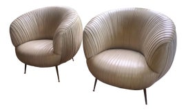Image of Leather Club Chairs