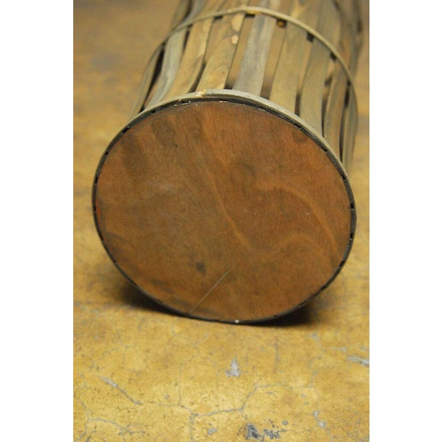 Brown Tall Wooden Cellar Baskets-Set of 3 For Sale - Image 8 of 11