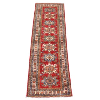 "Contemporary Multi Color Wool Runner Rug 9'10""x2'8"""