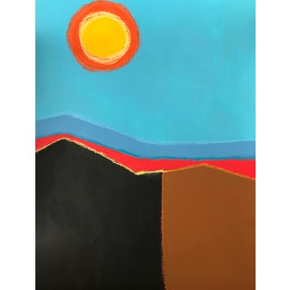 Contemporary Abstract Landscape Acrylic Painting byTony Marine For Sale