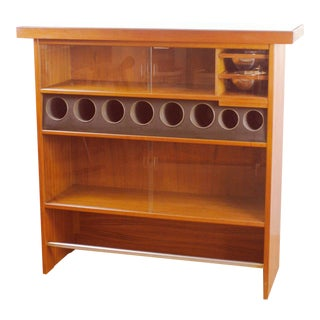 Danish Modern Teak Dry Bar by Heltborg Mobler