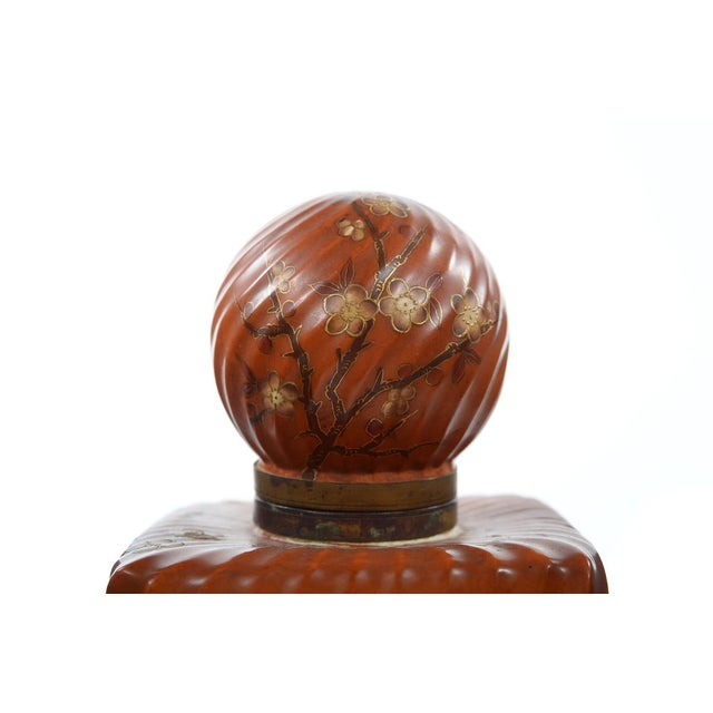 19th Century Painted Porcelain Inkwell Bottle For Sale - Image 4 of 9