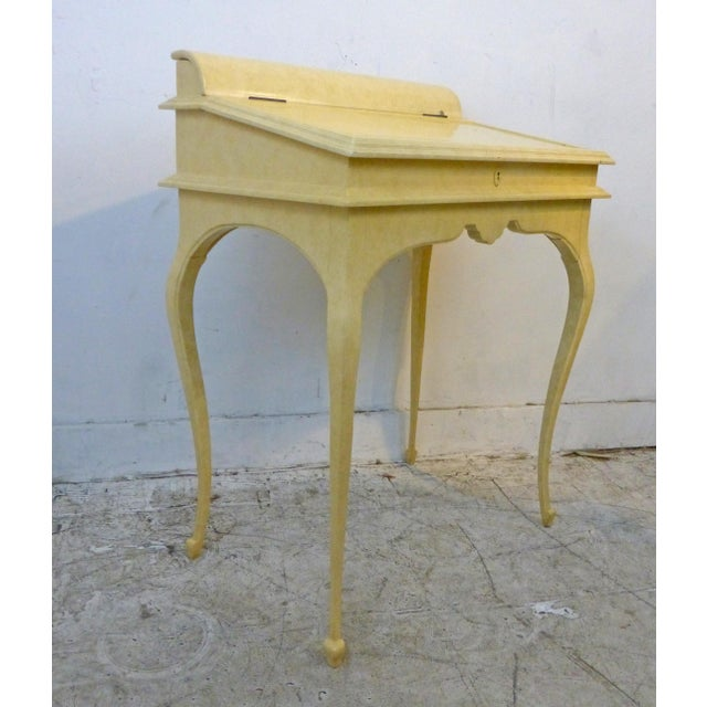 Creamy Lacquered Writing Desk - Image 8 of 8