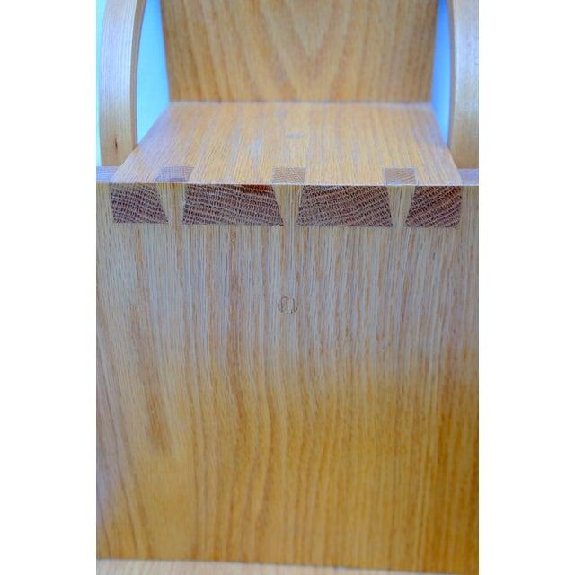 Wood 1970s Vintage Handmade Step Leaning Shelf For Sale - Image 7 of 12