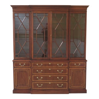 White Furniture Co 4 Door Mahogany Breakfront China Cabinet For Sale