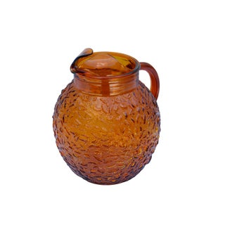 Anchor Hocking Textured Glass Pitcher in Amber Preview