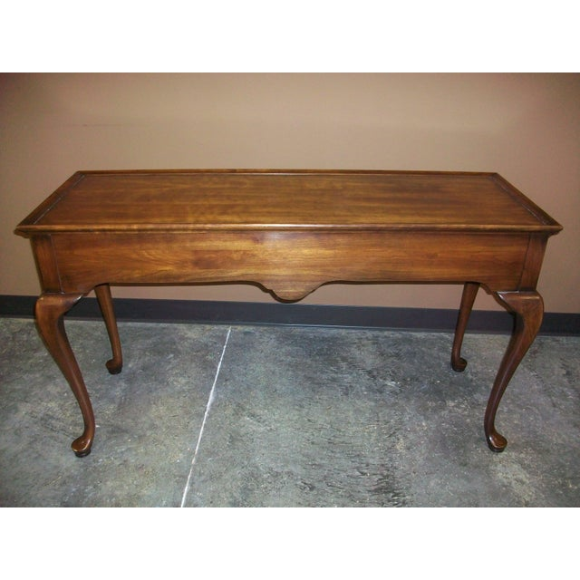 Brown Harden Queen Anne Style Sofa Table Console For Sale - Image 8 of 10