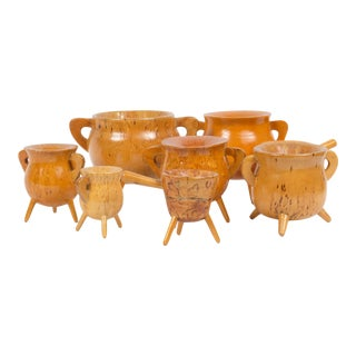 Mid-Century Pot Shaped Candle Holder - Set of 8 For Sale