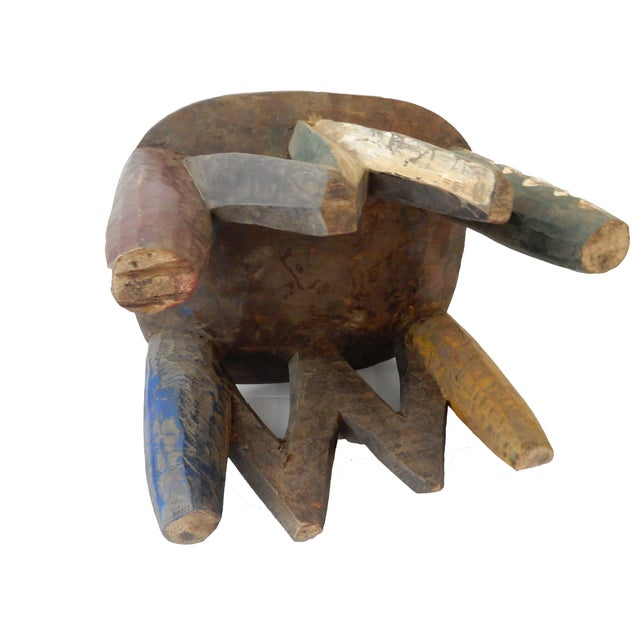 African Old Nupe Low Stool For Sale - Image 10 of 10