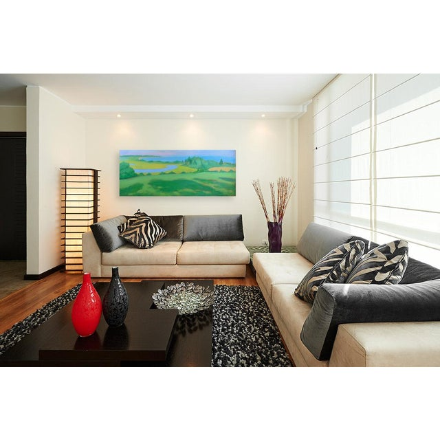 "Large 32"" X 80"" Contemporary Painting, ""Summertime by the Ocean"", by Stephen Remick For Sale - Image 11 of 12"