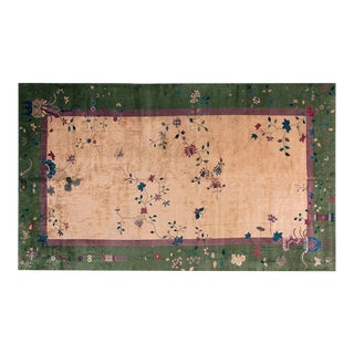 "1920s Chinese Art Deco Rug - 10'x17'6"" For Sale"