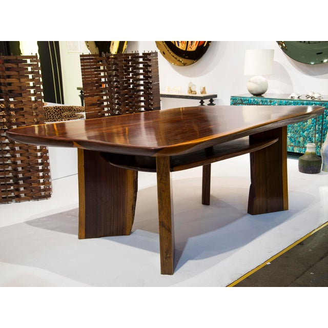 French Work Dining table or centre table Made of massive Brazilian rosewood France, circa 1970/1980
