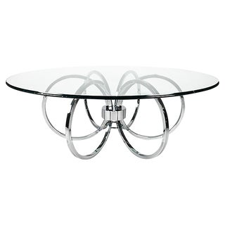 MId Century Chrome Ring Coffee Table For Sale