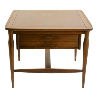 One Drawer Mid Century Table Attributed to Bassett For Sale