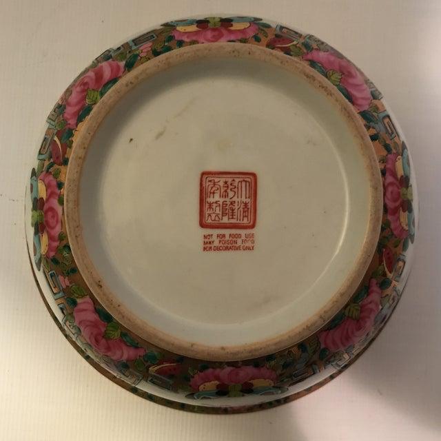 Rose Medallion Bowl For Sale In Charlotte - Image 6 of 11