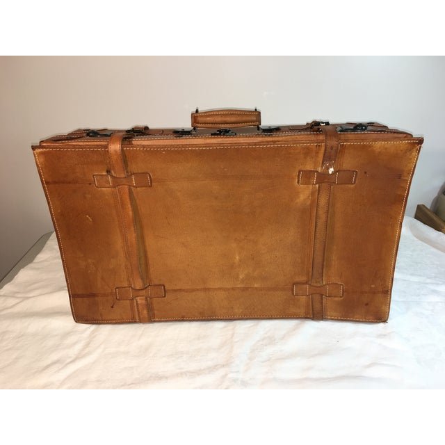 Vintage Leather Suitcase - Image 5 of 8