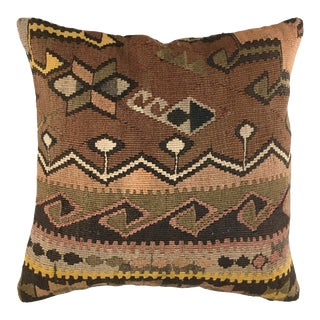 """Up-Cycled MidCentury Kilim Pillow 