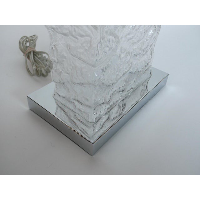 Modern Ice Cube Glass Table Lamps - A Pair - Image 7 of 8