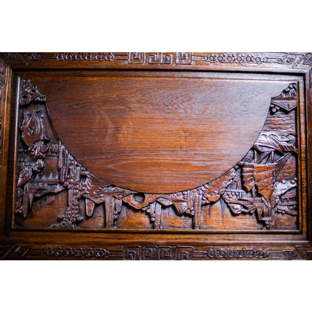 Brown Chinese Carved Chest from the 1930s For Sale - Image 8 of 10