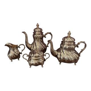 Handarbeit Sterling Silver Tea & Coffee Set - 4 Pc. Set For Sale