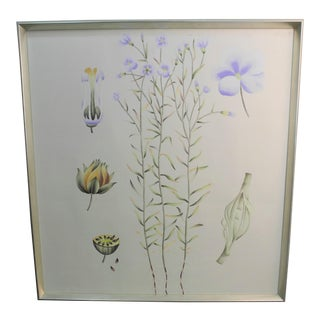 Bungalow 5 Auer Framed Silk Panel Painting For Sale