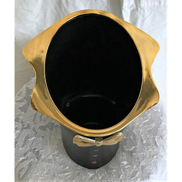 Hollywood Regency Tuxedo Wine Cooler For Sale - Image 4 of 5
