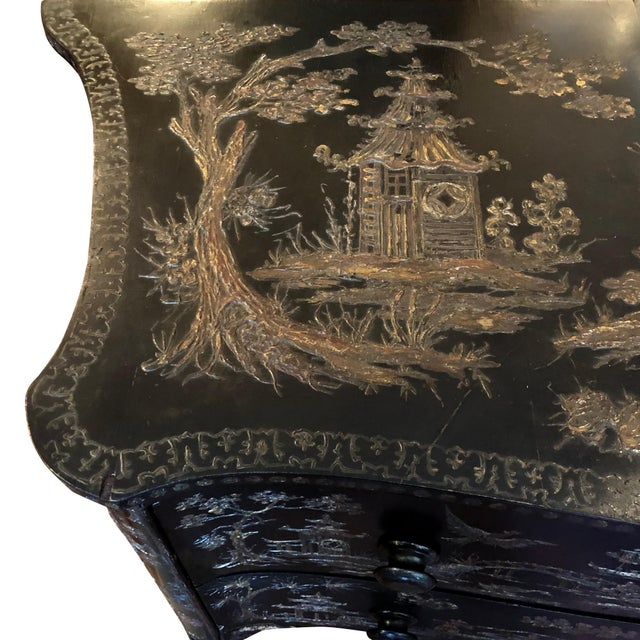 Mid 18th Century 18th Century Italian Japanense Style Two Drawer Chest For Sale - Image 5 of 7