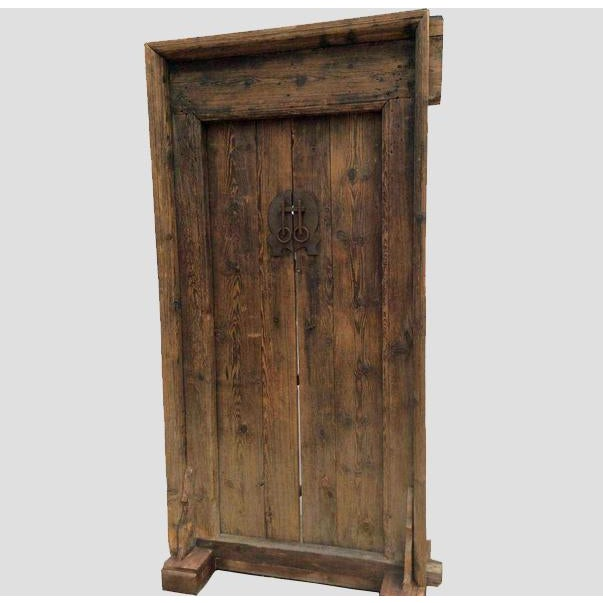 This antique door is in the same condition as it was found in Shanxi, China - Mid-19th Century Antique Asian Wood Door Chairish
