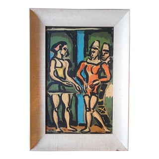 "Vintage Mid 20th C. Modernist Silkscreen Print""Parade""-Georges Roualt For Sale"