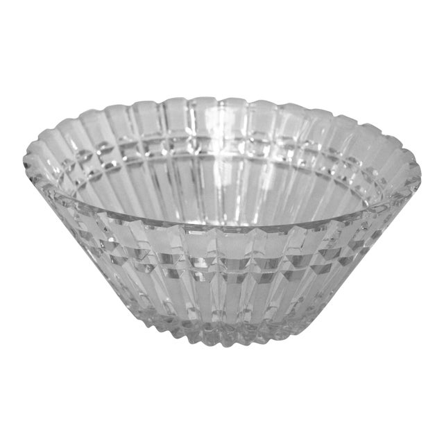 Art Deco Oval Cut-Glass Bowl For Sale