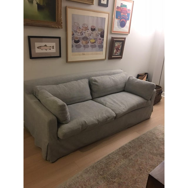 Restoration Hardware Belgian Track Arm Sofa - Image 3 of 4