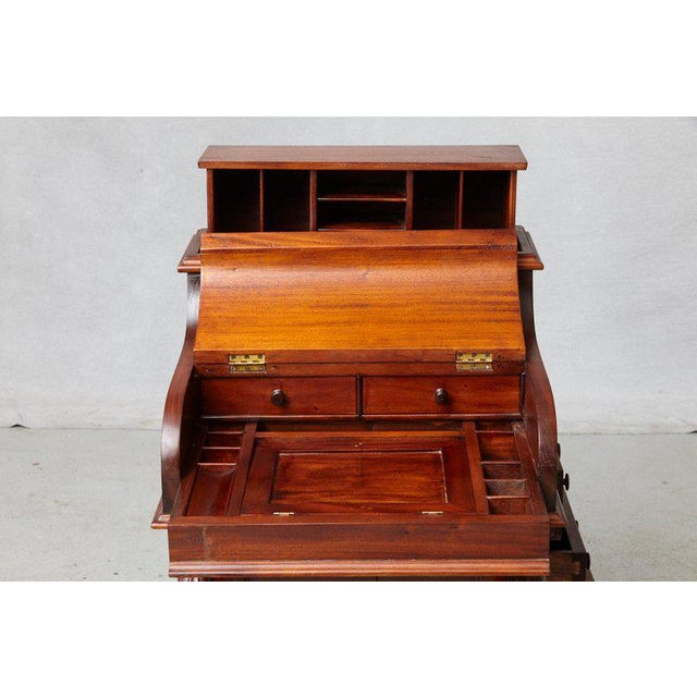 English Traditional 20th Century Walnut Piano Top Davenport Desk For Sale - Image 3 of 13
