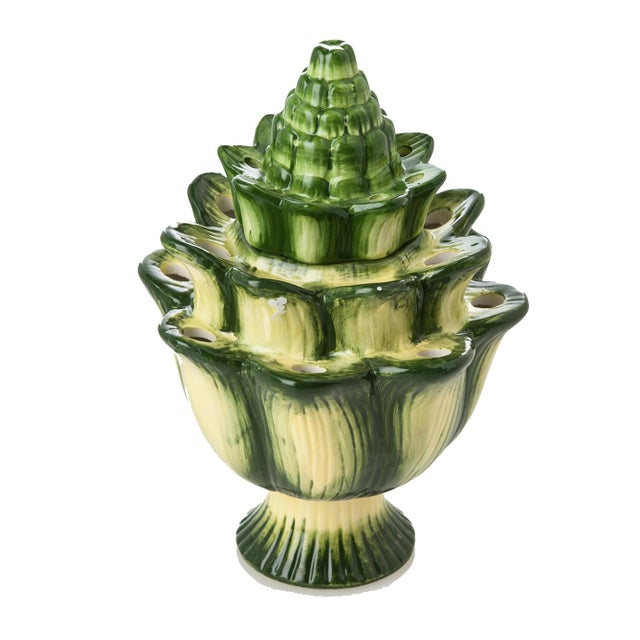 Contemporary Large Green Artichoke Tulipiere For Sale - Image 3 of 3