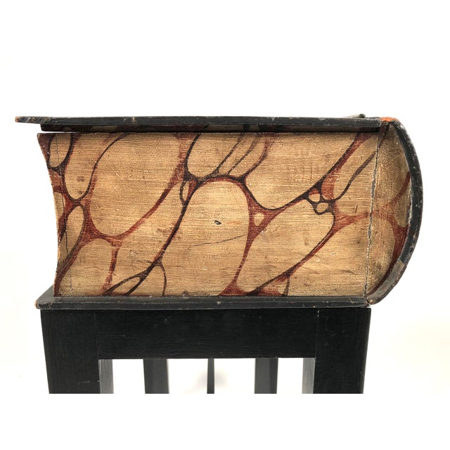 19th Century Painted Wood Book Box on Stand For Sale - Image 12 of 13
