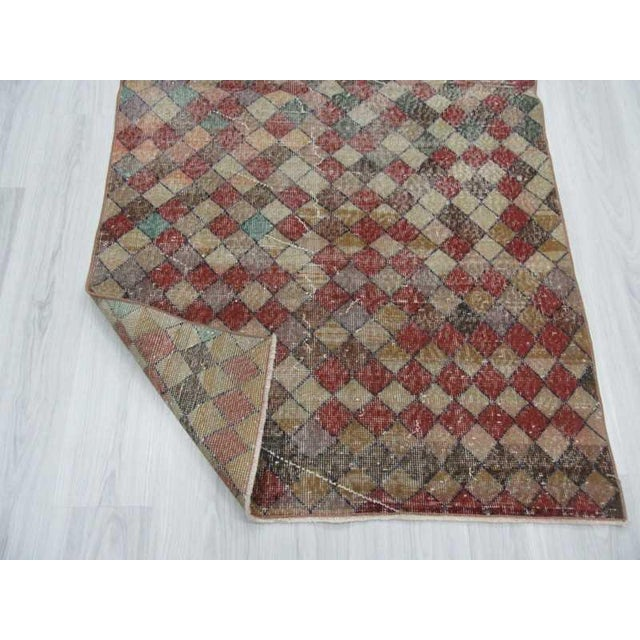 Vintage Turkish Art Deco Hand-Knotted Rug - 3′9″ × 6′7″ For Sale In Los Angeles - Image 6 of 6