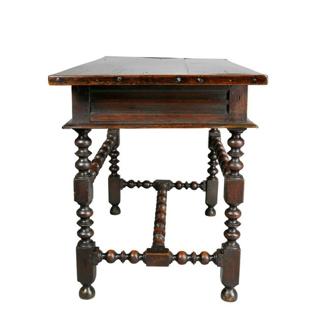 Brown Charles II Oak Tavern Table For Sale - Image 8 of 12