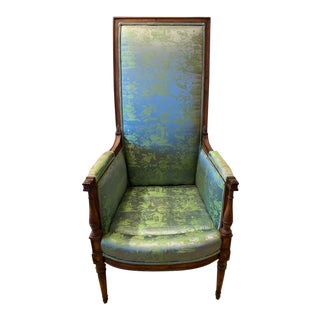 1940's High Back French Style Chair For Sale
